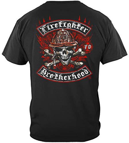 Firefighter Tools and Equipment | Firefighter Biker Cross Bones Shirt ADD157-FF2144-4XL
