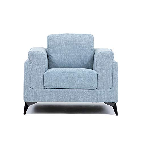 Danube Home Oliver 1 Seater Fabric Sofa Set   Dim Blue