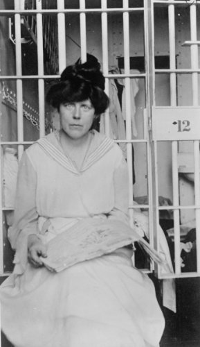 1917 BURNS, MISS LUCY, OF C.U.W.S. IN JAIL Vintage 8x10 Photograph - Ready to Frame