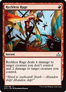 Magic MTG Reckless Rage ~ Rivals of Ixalan Excellent+