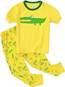 Pajamas For Boys Girls Crocodile Deer 2 Piece Sleepwear Kids Clothes Pant Sets