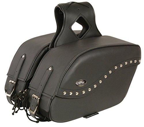 - Milwaukee Leather SH646ZB-BLK-PCS Black PVC Zip-Off Saddle Bag