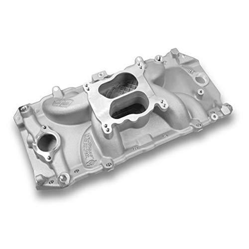 (Weiand 8123 Street Warrior Square/Spread Bore Satin Oval Port Intake Manifold)