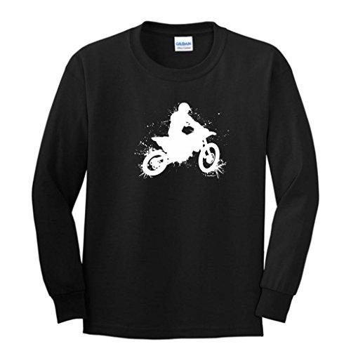 Price comparison product image Motocross Mud Splatter Youth Long Sleeve T-Shirt Medium Black