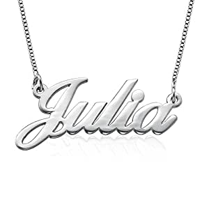 925 Sterling Silver Personalized Name Necklace - Custom Made with Any Name!