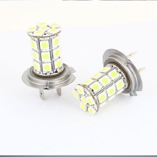 eDealMax Paire Van Voiture Camion H7 27 LED SMD Blanc 5050 Brouillard Ampoule