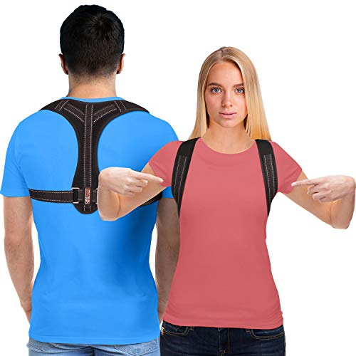 Posture Corrector for Men and Women - Upper Back Brace Straightener with Adjustable Breathable Clavicle Support Effective for Neck
