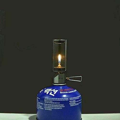 BRS Outdoor Gas Lantern Dreamlike Candle Lamp Portable Tent Lantern Glass Mantle Lantern ()