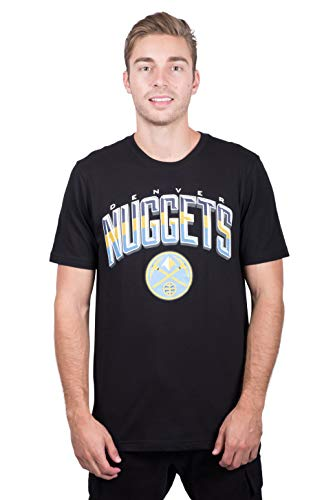 NBA Denver Nuggets Men's T-Shirt Arched Plexi Short Sleeve Tee Shirt, Large, Black ()