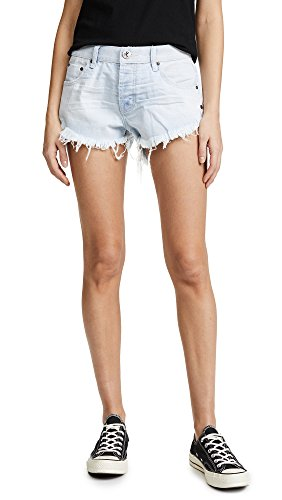 - One Teaspoon Women's Relaxed Fit Brandos Shorts, Brando, Blue, 24