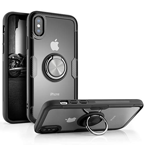 Besiva Phone Case Compatible iPhone x,iPhone Xs Tempered Glass Back Cover Case with 360