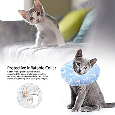Jimfoty Collar isabelino para Mascotas, Collar Hinchable ...