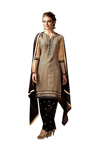 Indian Women Designer Partywear Ethnic Traditonal Beige Anarkali Salwar Kameez by PinkCityCreations