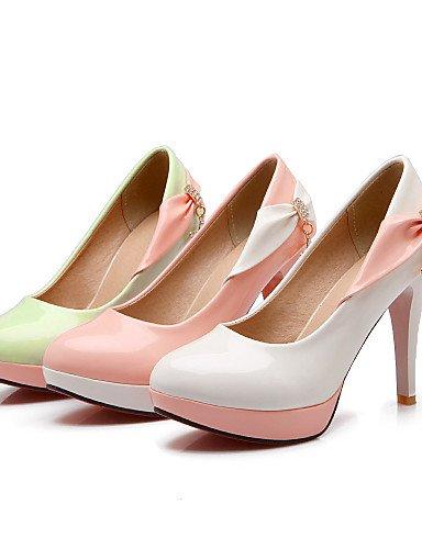 GGX/Damen Sommer/Herbst Heels/Schuhe Patent Leder Office & Karriere/Casual Stiletto-Absatz Schleife/Sparkling glittergreen Pink/ green-us9 / eu40 / uk7 / cn41