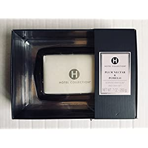 HOTEL BY CHARTER CLUB-EDI/RWI/MAESA Hotel Collection Bar Soap with Glass Soap Dish, Plum Nectar Pomelo