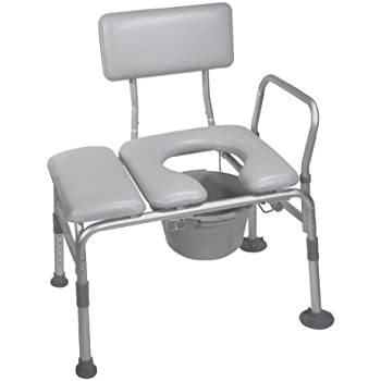 Amazon Com Guardian Padded Transfer Bench With Commode