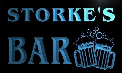 w136641-b STORKE'S Name Home Bar Pub Beer Mugs Cheers Neon Light Sign