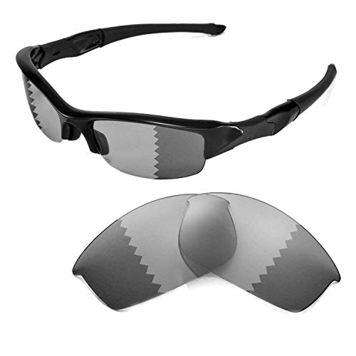 Walleva Replacement Lenses for Oakley Flak Jacket Sunglasses-Multiple Options Available (Transition/photochromic - Polarized)
