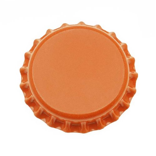 Jewelry Pendant Scrapbooking Magnets (Beadaholique CROrange New Orange Crown Bottle Caps Craft Scrapbook Jewelry (Pack of 50))