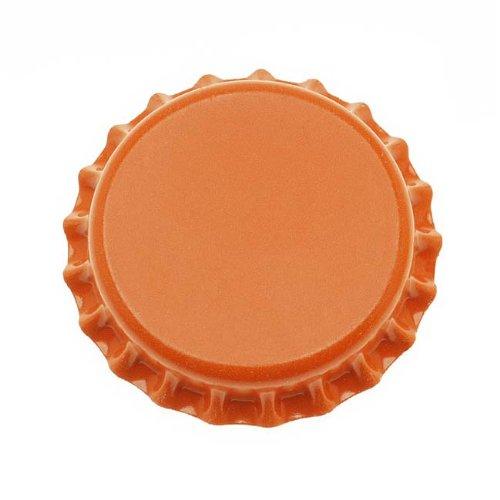 Jewelry Magnets Scrapbooking Pendant (Beadaholique CROrange New Orange Crown Bottle Caps Craft Scrapbook Jewelry (Pack of 50))