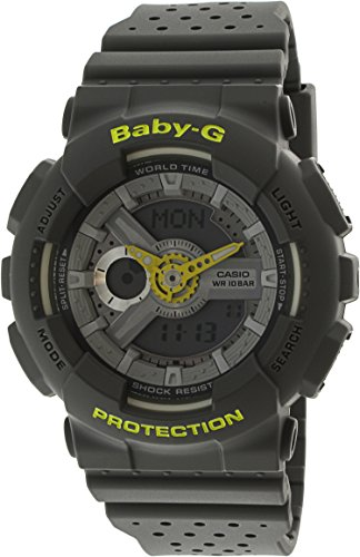 Casio Women's Baby G BA110PP-8A Grey Resin Japanese Quartz Diving Watch