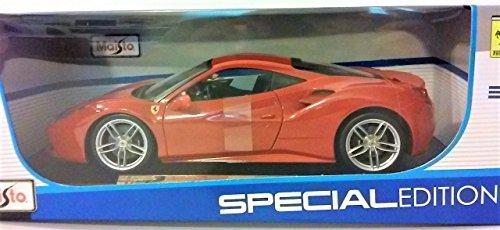 18 Scale Diecast Model Car - Ferrari 488 GTB (Red) 1:18 Scale Diecast Model Car by Maisto