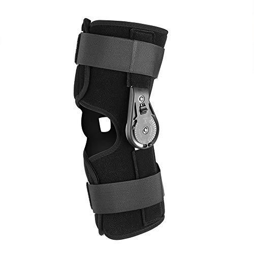 Qkiss Knieorthese Unterstützung, Einstellbare Kniestütze Knieschutz, Hoher Komfort Feste Wangenknochen, Schmerzlinderung Klettern Joggen Volleyball (M)