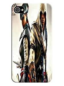2014 Cool Assassin's Creed Hot Selling fashionable TPU for iphone 4/4s Waterproof Shockproof Case Cover
