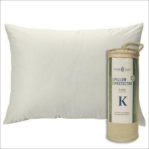 Pure Collection Organic Pillow Protector - Standard Gotcha Covered