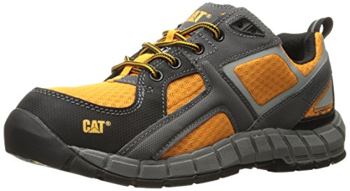 Caterpillar Men's Gain Steel Toe Work Shoe, Orange, 11 M US