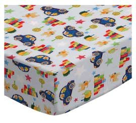 SheetWorld Fitted Pack N Play (Graco Square Playard) Sheet - Fun Train Tracks - Made In USA, 36 x 36 PP3636-W643