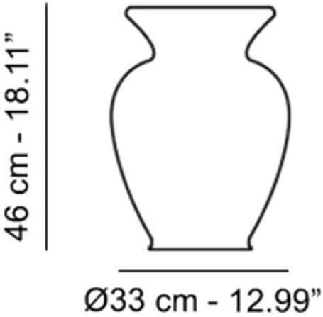34 x 46 x 46 cm Viola Kartell 8883//V4 LA BOHEME Sgabello