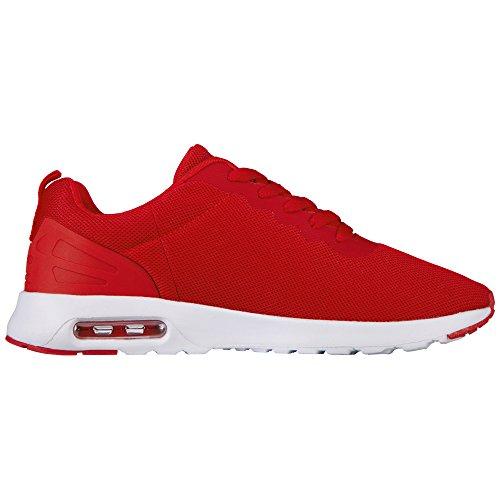 Kappa Classy, Zapatillas para Mujer Rojo (Red/white)