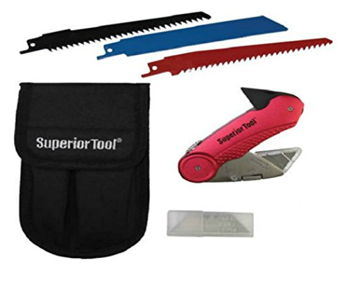Superior Tool 37519 Plumber's Knife Kit Combination Multi-Tool, Stainless Steel by Superior Tool