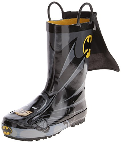 Western Chief Kids Waterproof D.C. Comics Character Rain Boots with Easy on Handles, Batman Everlasting, 1 M US Little Kid]()