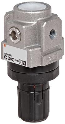 SMC AR10-M5-Z-A Regulator, Relieving Type, 7.25 - 101 psi Set Pressure Range, 5 scfm, No Gauge, M5 Metric Thread