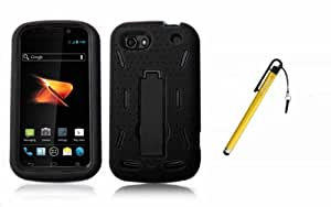 Black ZTE Warp Sequent N861 Rugged Case Full Protection - Otterbox Style