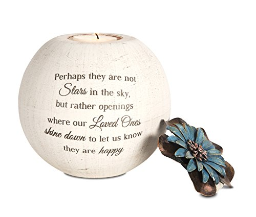 Pavilion Gift Company 19095 Stars in The Sky Candle Holder, 5-Inch, Terra Cotta - Angel Star Tabletop