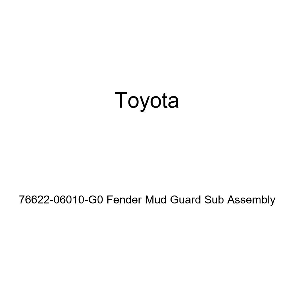 TOYOTA Genuine 76622-06010-G0 Fender Mud Guard Sub Assembly