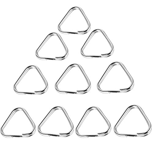 Foto4easy 10pcs Triangle Metal Keychain Ring for Camera
