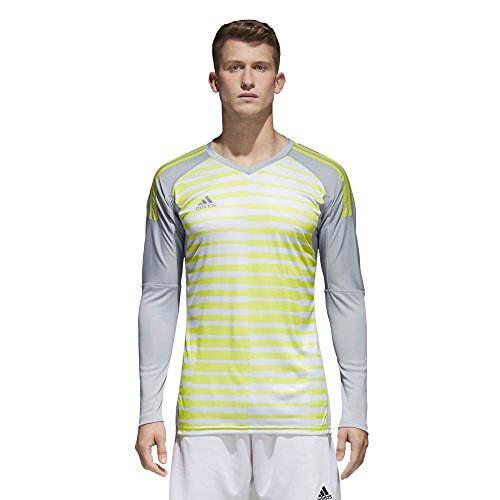 adidas ADIPRO 18 GK Long Sleeve Jersey (Large, Light Grey/Grey ONE/SEMI Solar Yellow) Adidas Climalite Long Sleeve Jersey