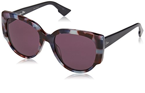 Christian Dior Night 1/S Sunglasses Havana Light Blue / Dark - Butterfly Sunglasses Dior