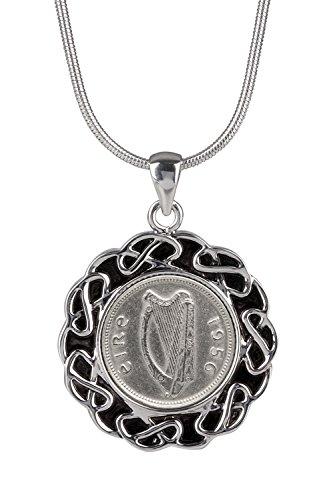 1942 Irish Three Penny Pendant - 76th Birthday Gift for Woman -100% Satisfaction Guarantee (1942 Mint)