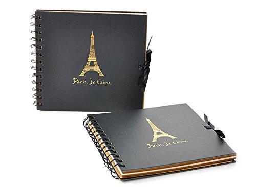 Hxytech Vintage Classic Scrapbook Paper Photo Album Eiffel T
