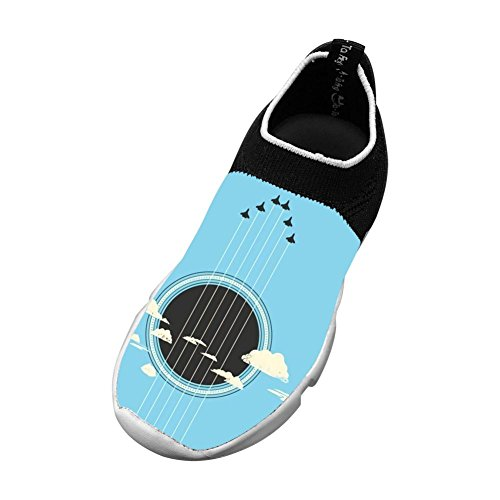 Kids Guitar Graphic Fly Knit Running Shoes Mesh Sneakers for Boys Girls