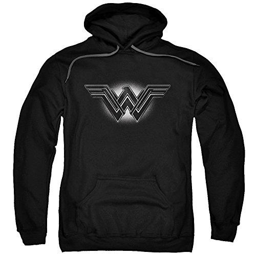 Trevco Men's Batman Vs. Superman Glow Emblem Hoodie Sweatshirt at Gotham City Store
