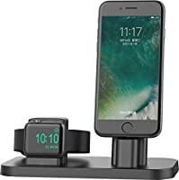 Apple Watch Stand, BEACOO Charging stand Dock Station -- Support Apple Watch NightStand Mode and iPhone 7/7 plus/SE/5s/6S/PLUS with Various Case (Black)