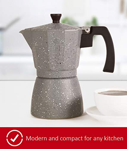 Holstein Housewares H-08080 6-Cup Aluminum Espresso Maker - Marbled by Holstein Housewares (Image #1)