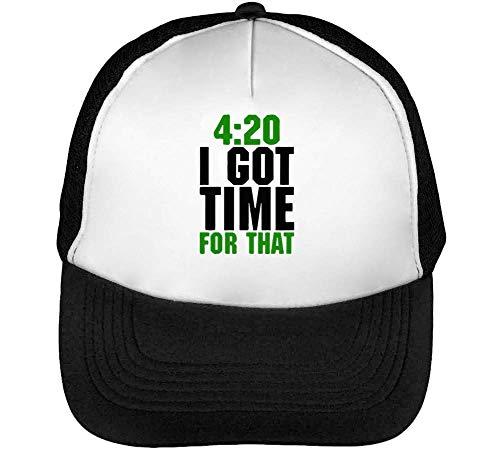 420 - I Got That Gorras Hombre Snapback Beisbol Negro Blanco