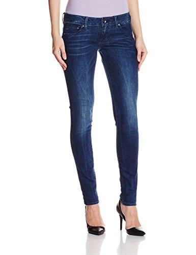 G-Star Raw Midge Zip Low Super Skinn - Vaqueros para mujer Blau (Medium Aged D008.071)